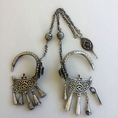 Khrab earring set -  from Morocco -  late 1800's early 1900's.