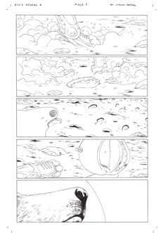 Collection Of 3x Original Art Pages By Carlos Rafael - Dynamite Entertainment - Buck Rogers #4 - Pages 1, 2 and 3 - (2009)