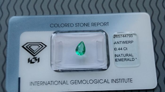 Emerald - Green - 0.44 ct - No reserve price
