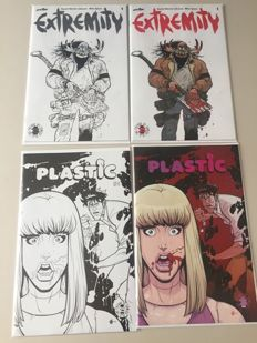 Collection Of Variant Image Comics - From The Limited Edition Image 25th Anniversary Blind Box - Includes Extremity #1 - Plastic #1 - (2017)