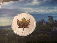 Canada - 5 Dollars 2017 'Maple Leaf' coloured edition - 1 oz silver