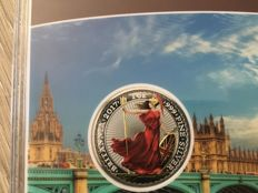 Great Britain - 2 Pounds 2017 'Britannia' coloured edition - 1 oz silver