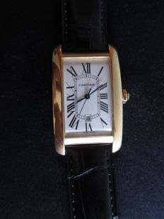 CARTIER Tank Americaine XL  Ref.: 2329 -- for men --  From the years 1990-1999.
