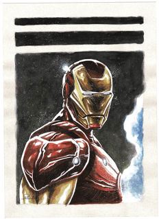 Juan Antonio Abad (Juapi) - Original Drawing - Iron Man