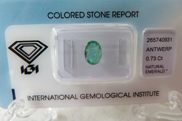 Emerald - 0.73 ct (No reserve price).