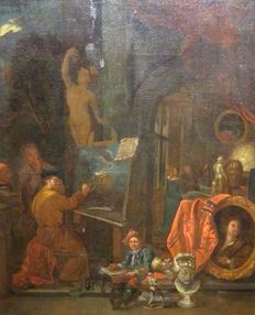 Gerard Thomas (1663 - 1720) Environment or successor - In the studio of the artist around 1700/1750
