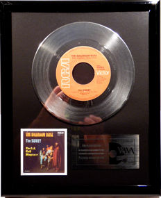 "The Sweet - The Ballroom Blitz -  7"" Single NL Records platinum plated record by WWA Awards"