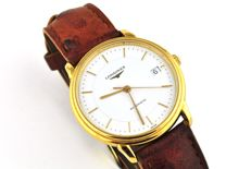 Logines Automatic Men's Watch with Brown Leather Strap
