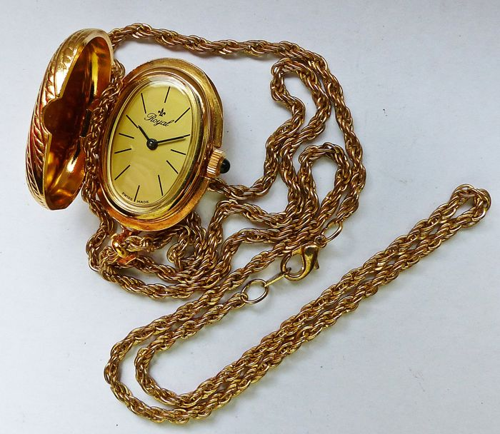 RoYal Medallion watch -- women's pocket / medallion watch from the 70s to 80s