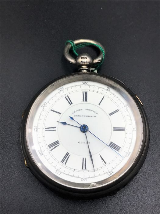 H. Stone of Leeds, centre seconds chronograph, hallmarked: Chester, 1887