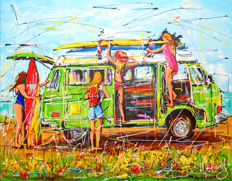 Mathias -  Dutch holiday, surf bus T3 and girls