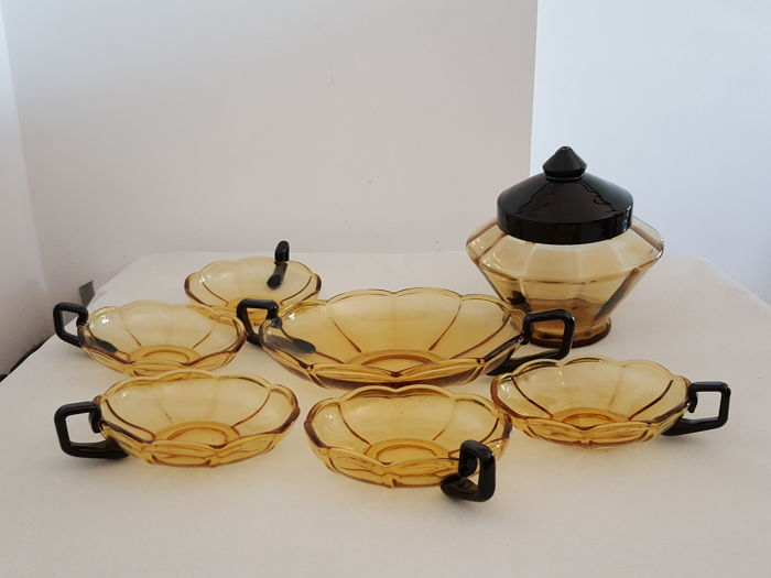 Art Deco - Dessert set of 7 pieces