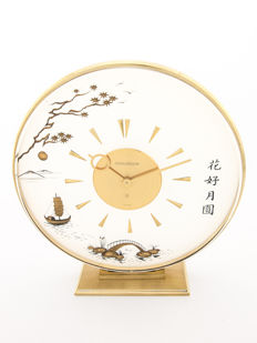 LeCoultre CHINOISE (Marina) table clock with 8 day movement – 1960s