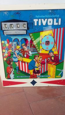 TIVOLI PINBALL MACHINE HEAD - 1960