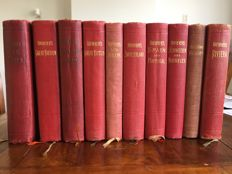 10 volumes of Baedekers travel guides 1906 / 1930