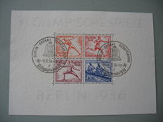 German Empire 1936-37 – 5 different blocks, Michel block 5-6, 8, 9 and 11