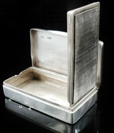 Large Unusual Silver Vesta Case Snuff Box, London 1882, William Summers