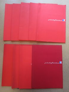 Pininfarina - Lot of 9 press kits from 1983 to 1988 including Ferrari models: Mondial / GTO / 412 / Testarossa 1984 / Testarossa 50's and other brands Alfa or Peugeot