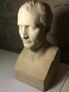 Plaster bust of Napoleon - 19th century period