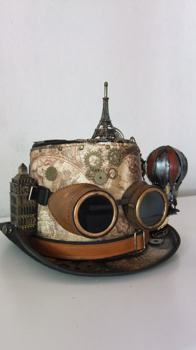 "Steampunk hat ""Around the world in 80 days"""