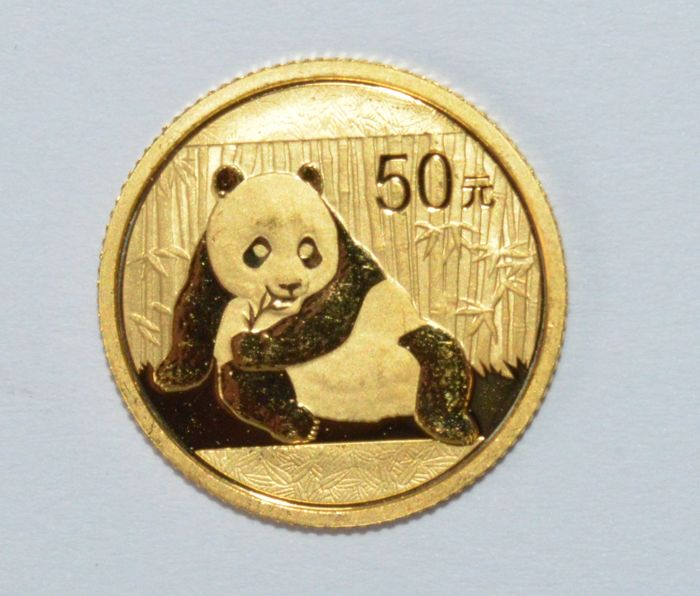China - 50 Yuan 2015 Panda - 1/10 oz of gold