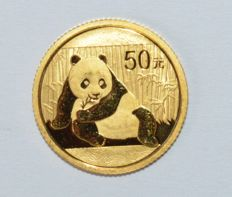 China - 50 Yuan 2015 Panda - 1/10 oz goud