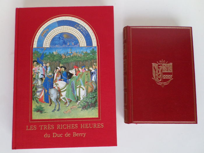 Medieval miniatures; Lot with two top Books of Hours