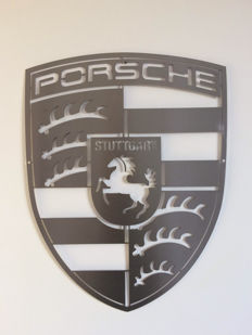 Beautiful Porsche wall shield - Stainless steel