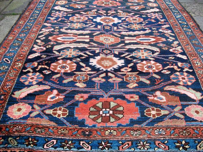 Semi-antique hand-knotted Persian carpet Hamadan - Iran - 210 x 137 - Approx. 1930