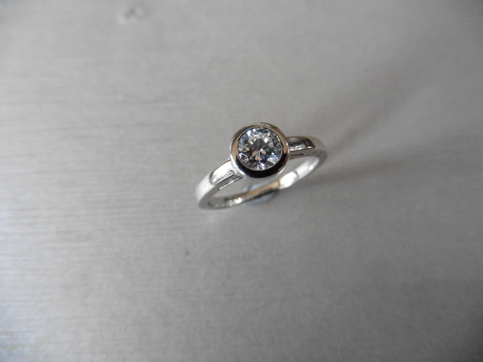 Platinum Diamond Solitaire Ring - 0.50ct - size 52