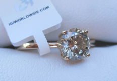 Solitaire Diamond ring 0.95ct ct I1, Ringsize 52.75, 16.5 mm (Easily resized)