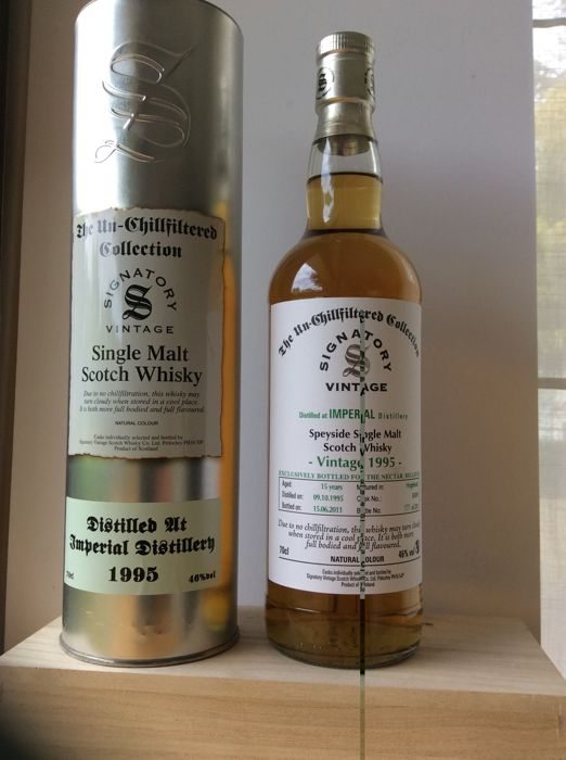 Imperial vintage 1995 - 15 years - Cask No: 50309