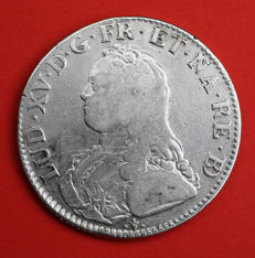 France – Louis XV (1715-1774) – Ecu with olive branches 1727 (Pau) – Silver
