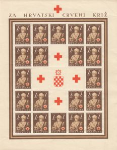 Croatia 1941/11945 - Collection of complete stamp sheets