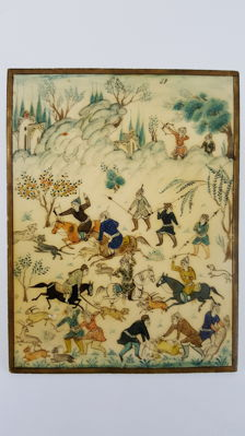Miniature Painting on Ivory, signed - Persia - early 20th century