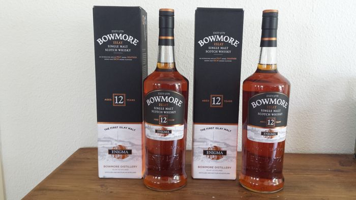 2 bottles - Bowmore 12 Year Old Enigma