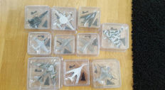Lot with 10 model aircraft (mix) various scales, brand: Die Cast.