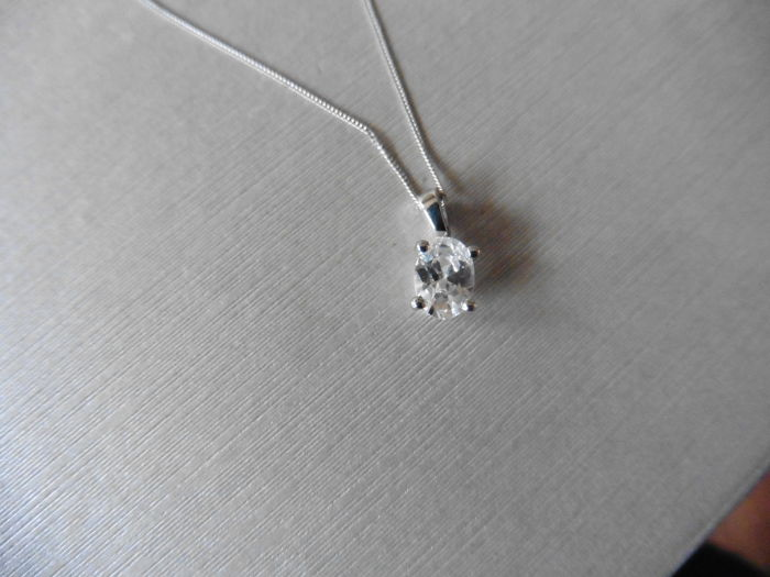 Platinum Diamond Pendant and Chain - 0.40ct