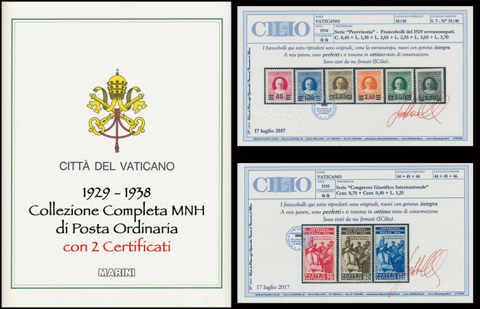 Vatican City 1929-1938 Complete Collection Ordinary Mail on GBE sheets