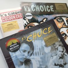 K's Choice, lot of 3 limited edition 180 grams coloured vinyl LPs: Paradise In Me, Cocoon Crash, Great Subconsciousness