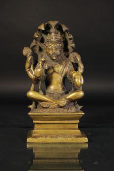 Bronze figure of Narasimha - India - late 19th century