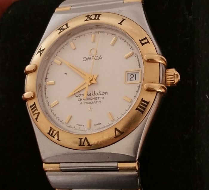 Steel and gold Automatic Omega constellation - Men's - Year: 2000