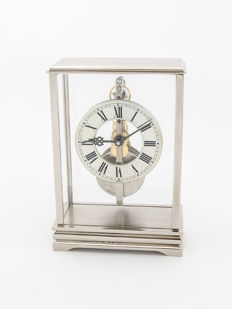 Jaeger-LeCoultre table clock with 8 days bridge movement - 1960s