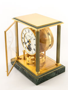 Jaeger-LeCoultre Atmos VENDOME (Empire/Directoire) table clock with moon phase - 1990s