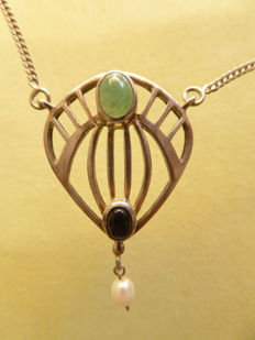 Necklace in Art Nouveau style