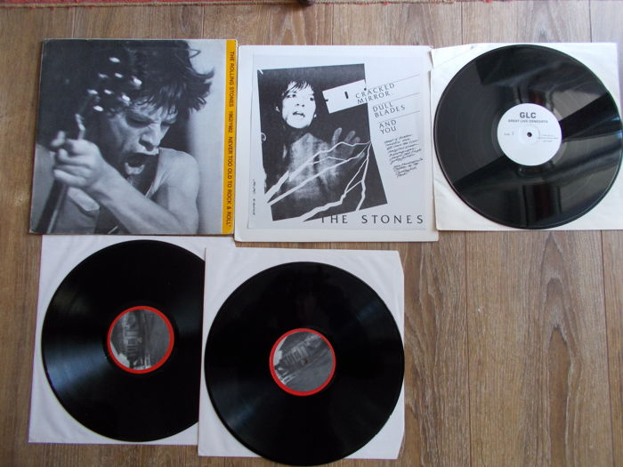 The Rolling Stones Lot Of 2 Lp : Double Lp Never Too Old To Rock & Roll Live Hampton Roads , Virginia 18/12/1981 And Live San Francisco , October 18 , 1981 ,Unofficial Release