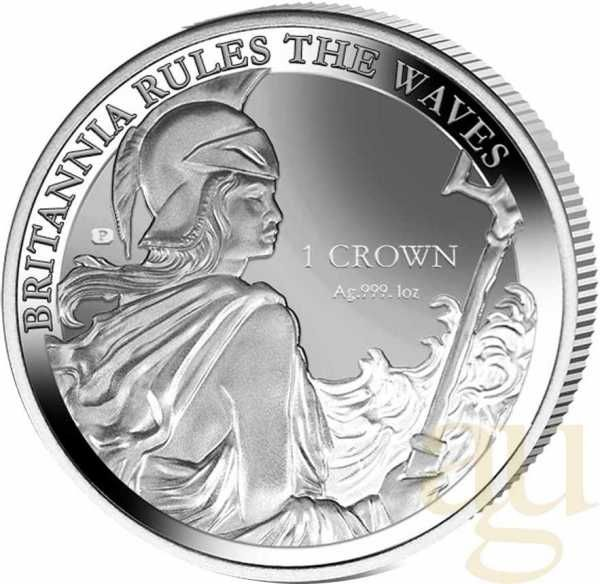 Falkland Islands - The Pobjoy Mint - 1 Crown - Britannia 2017 - reverse proof - rules the waves - 35th Anniversary Liberation of the Falkland Islands