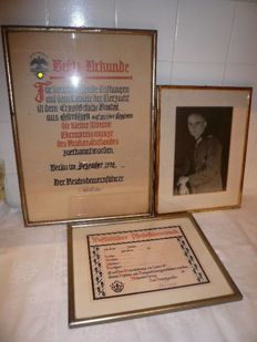 Picture of soldier Africa corps, died 1943 by Tunis with two certificates: WW2