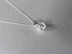 Platinum Diamond Pendant and Chain - 0.50ct