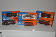 Roco H0 - 4310A/4311/4373 - 6 goods wagons of the NS